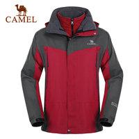 For camel outdoor jacket twinset Men fleece windproof waterproof outdoor jacket 2f01225 male