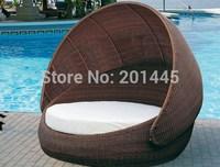 Rattan Wicker Outdoor daybed lounge Garden salon day bed hammock  Furniture Set