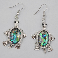 10 Pairs/lot New Fashion New Zealand MOP Abalone shell MoveableTurtle Beads Earrings Wholesale