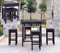 Rattan bar stool bar furniture set table chair set wicker garden patio coffee table