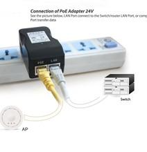 Ac100-240v 0.8A макс 50 / 60 Гц DC 24 В 1A дюбель-в адаптер питания POE адаптер модуль а . п . использования на сша или ес