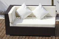 Rattan Wicker Sectional Corner Sofa outdoor living garden modern relax  sofas lounge bed ottoman furniture set
