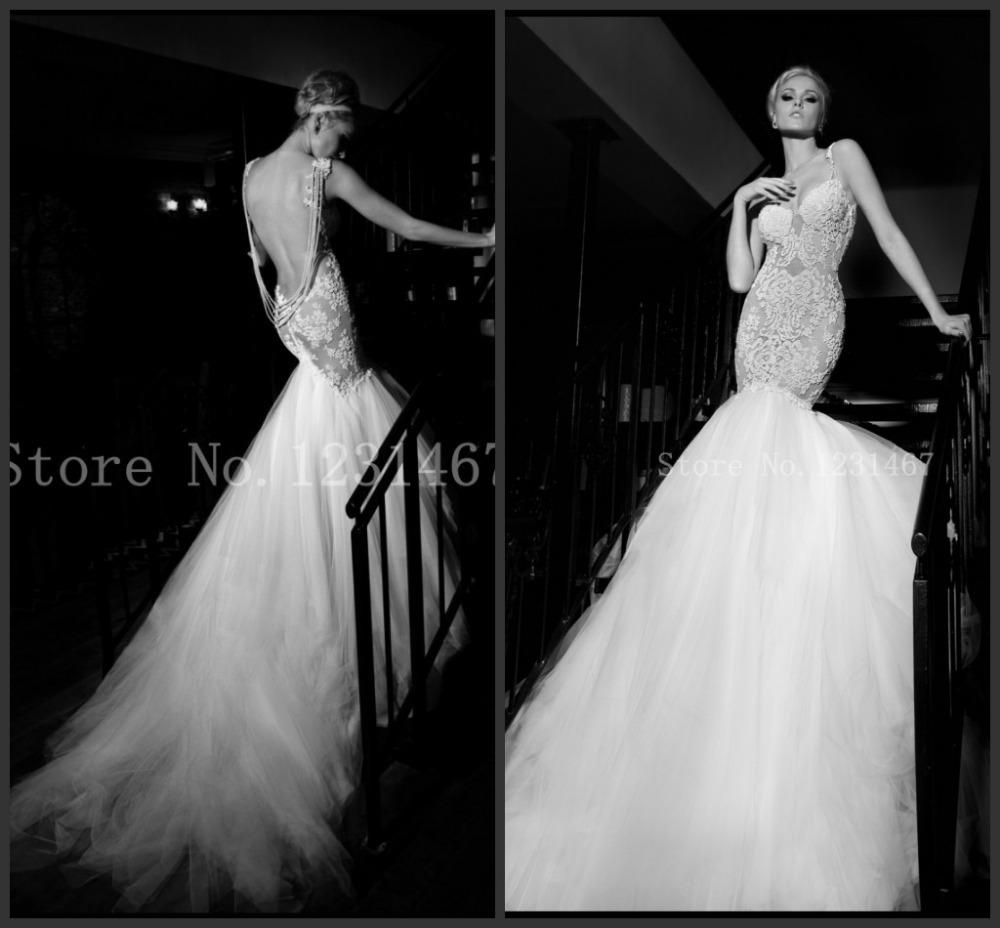 2014 vestidos de noiva novo sereia brancos baratos Plus Size do querido vestidos de noiva Lace Up cauda longa feito por encomenda P00508(China (Mainland))