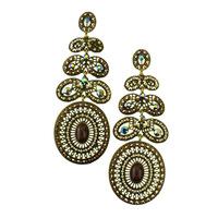 Fashion earrings Handmade luxury elegant brincos grandes rhinestone big drop earrings 2014 Vintage wedding Earrings Accessories