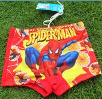 High quality Spiderman children boy swimming shorts red swim shorts boys summer beach shorts 2T~12Y