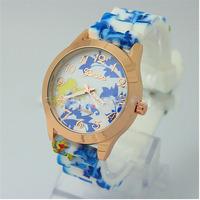 2014 new fashion silicone geneva watch analog  sexy Arabic numerals student women dress watchs