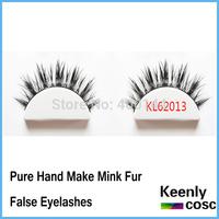 Free Shipping! Natrual mink hair eye lashes extionsion softness mink fur fake lashes,pure handmake mink lash 10 pairs/box