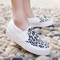 New 2014 women platform sneakers leopard shoes woman flats fashion canvas shoes female leopard print casual flat shoes