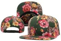 Brand Blank Floral Snapback Hats for girl classic men and women's design flower snapback caps fashion baseball hip hop sun hat
