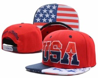 New arrival USA Snapback hats men's american Flag cap brand womens sports baseball caps design hip hop cap & hat hot in summer