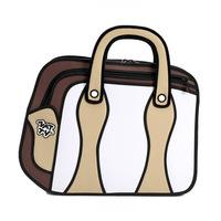 2014 New Arrived 3D Jump Style Comic Bag Fashion Hanndbags 2D Drawing Cartoons Handbag For Women Novely Gismo Casual Totes