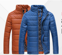 High quality New Style Pu leather winter autumn  man fashion down cotton coat  winter coat man plus size L-3XL FREE SHIPPING