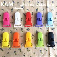 500pcs Hot sale Clear Color D shape KAM Plastic Clip for ribbon, plastic Pacifier clip, Soother Clip