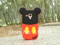 10pcs/lot Free ship! Mickey Minnie Mouse Daisy Donald Duck Soft Silicone Case for Samsung Galaxy S3 mini i8190 S4 mini i9190