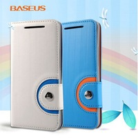 Special Offer Original BASEUS Rainbow Leather Case Cover for HTC One M7 801e 1PCS Free Shipping