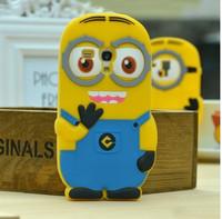 For Samsung GT-i8190 Galaxy S3 Mini Despicable Me 2 Minions Silicone Back Case Cover For Samsung Galaxy S III S3 mini i8190
