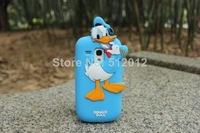 New 3D Cute Mickey Minnie Mouse Donald duck Chip Piglet Silicone Cover Case For samsung galaxy S3 mini i8190 DHL free shpping