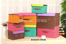 2PCS non-woven fabric home storage box