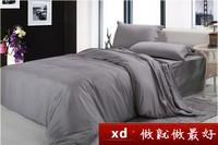 100% cotton bedding set  solid color striped pattern 4pcs/set flat sheet quilt cover 2 pillowcase single double queen king size