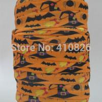 wholesale/OEM WM ribbon 140707001 5/8inch folded over elastic Webbing Halloween Style FOE 50yds/roll free shipping