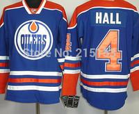 Free Shipping Oilers #4 Taylor Hall Hockey Jersey for Ice Hockey Jersey Hall Wholesale Oilers Hall Jerseys