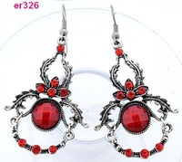 1 pair Tibetan Silver exquisite Crystal Beaded dangle dragon Earring