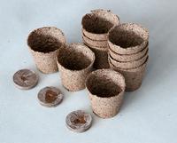 Free shipping 20 pieces 6*6 Round Peat Pots Nursery Pots Strong biodegradability seedling pot jiffy soil Nursery Pots