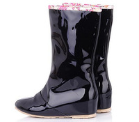 2014 new arrived fashion  Increased leisure rainboots boots female 2 ways wear rubber rain boots plus 43size