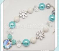 Jewelry Pendant Necklace Chunky Bubblegum Lovely Bottle Cap Frozen Elsa Pandent Necklace New Arrival 2pcs Freeshipping