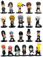 21pcs/lot Naruto Naruto kakashi sasuke xiao earners model doll Naruto Kaka Xizuo full paragraph Value Collection free shipping