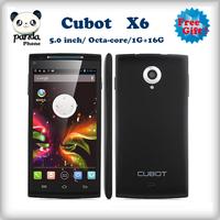 free shipping Original Cubot X6 MTK6592 octa core 5 Inch HD 1280x720 IPS Cell Phone 1G Ram 16G ROM OTG GPS 3G WCDMA