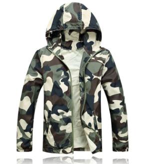 2014  Men Fashion Camouflage jacket Summer Tide male hooded ...