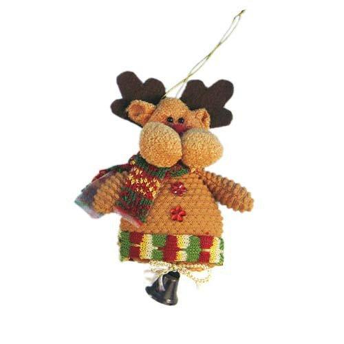 2014 Fashion Fabric Christmas Decoration Christmas Gifts Santa Snowman Ornament,Santa Reindeer 200pcs/ lot Fedex Free shipping(China (Mainland))