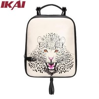 BWE095 New Tiger Print Bag Waterproof Shoulder Bag Mochila Feminina Women's Backpacks Free Shipping Causal Leather Backpack
