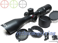 Sniper 3-12X40(red/green) Riflescope Hunting Scope Mil-dot Classic Compact Optics with sun shade-Free shipping