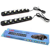 One Pair  6 LED Soft Strip Daytime Running Light DRL Car Eagle Eye Fog Lamp Waterproof shakeproof