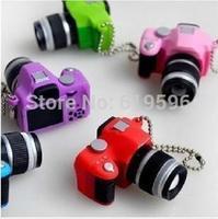The LED luminous key chain creative commodity camera small toys