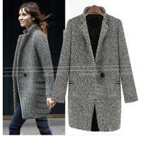 Top Quality Fashion New European Winter Warm Coats Womens Wool Jacket Outwear Trench Coat Free Shipping