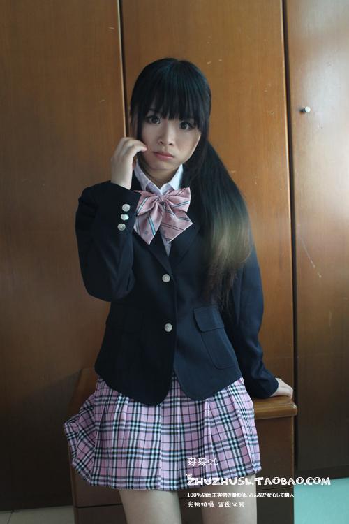 Jk japon. étudiant uniforme scolaire fabricant preppy carreaux style ...