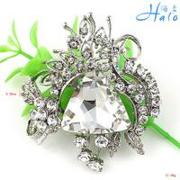 P168-490 60pc/lot free shipping clear large rhinestone games of thrones women bridal brooch pin wedding dress