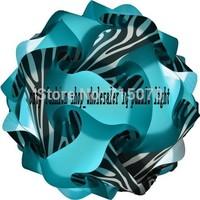 new arrival wholesale free shipping printed iq puzzle lamp white zebra pattern medium size