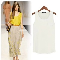 Fashionable women summer  female sleeveless chiffon  dress color option dropship