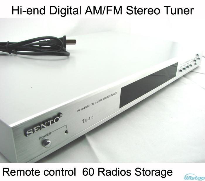 Hi-end Digital Stereo AM/FM Tuner 60 Radio Storage Remote Control Silver(China (Mainland))