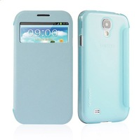 Free Shipping 1PCS Baseus Folio Window Leather & Plastic Case for Samsung Galaxy S4 i9500 i9505 i9502