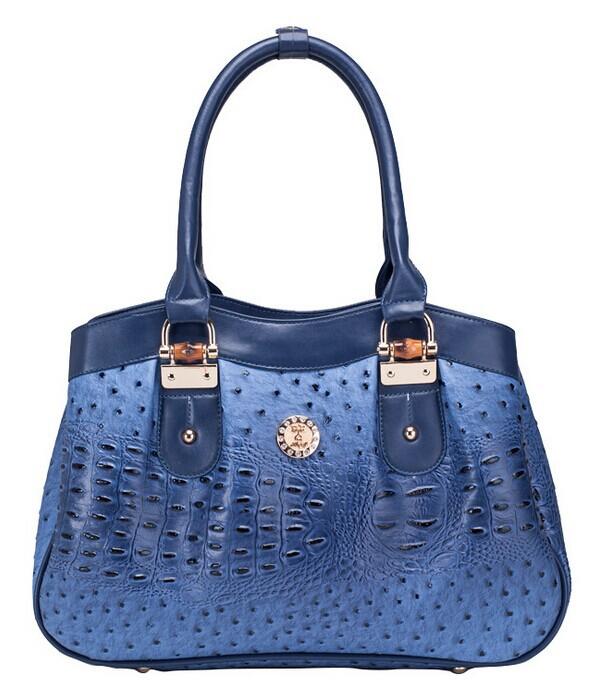 new 2014 women leather bag ostrich handbags casual Shoulder Bag messenger bags totes bag(China (Mainland))