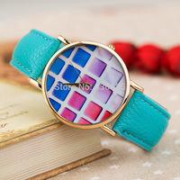 2014 new watch Women ladies Dress Watch Watermelon design quartz watch Leather Brand Wristwatch Top quality free shipping