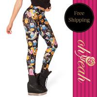 2014 New Arrival women leggings Colorfull  fashion print women jeans legging pants Free Shipping Hot sale jeans leggings T2258