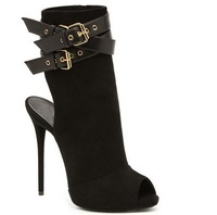 Peeptoe Women Boots New Style Platform Sandals Sexy Black Ankle Boots Heels Summer Dress Shoes Woman