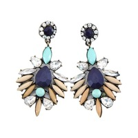 Vintage Fringe Colorful Crystal Exquisite Earring Charm Jewelry Shourouk Earrings Factory Wholesale