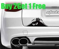"Buy 2 Get 1 Free,car styling ,waterproof ""Funny Peeking""car sticker for honda civic,mazda6 and so on car covers,Free Shipping"